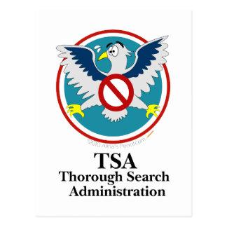 Dibujo animado divertido de Eagle TSA (toque mis d Postales