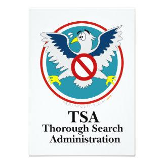 Dibujo animado divertido de Eagle TSA (toque mis Invitacion Personalizada