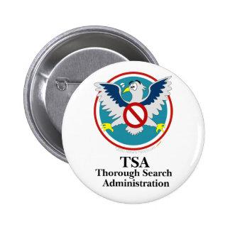 Dibujo animado divertido de Eagle TSA (toque mis Pin Redondo De 2 Pulgadas