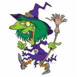 dibujo animado divertido de Halloween de la bruja  Esculturas Fotográficas