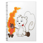 Dibujo animado divertido de la ardilla cuaderno
