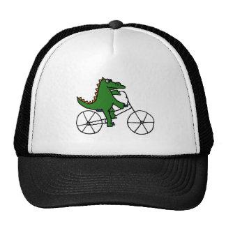 Dibujo animado divertido de la bicicleta del monta gorra