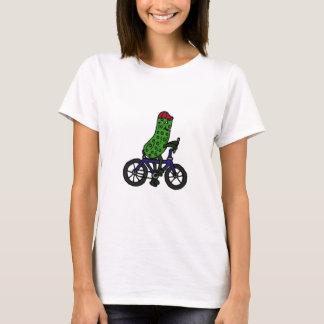 Dibujo animado divertido de la bicicleta del playera