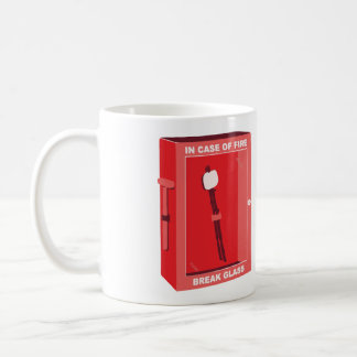 Dibujo animado divertido de la melcocha - en caso taza de café
