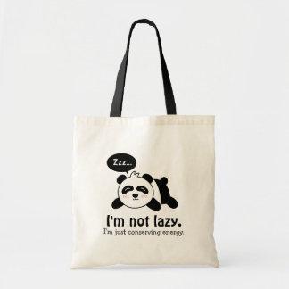 Dibujo animado divertido de la panda linda el bolsa tela barata