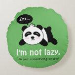 Dibujo animado divertido de la panda linda el cojín redondo