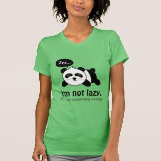 Dibujo animado divertido de la panda linda el playera