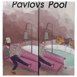 Dibujo animado divertido de la piscina de Pavlov