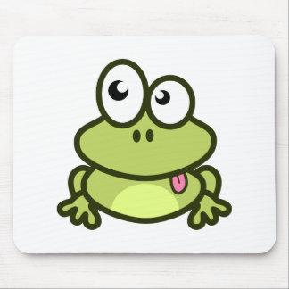 Dibujo animado divertido de la rana tapete de ratón