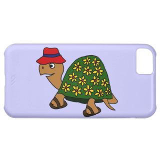 Dibujo animado divertido de la tortuga de la flor  funda para iPhone 5C