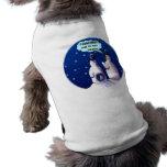 Dibujo animado divertido de los muñecos de nieve camiseta de perrito