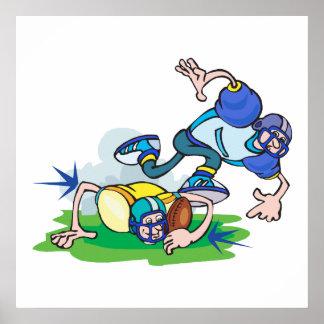 dibujo animado divertido de los trastos del fútbol impresiones