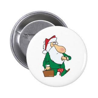 dibujo animado divertido de Papá Noel del hombre d Pin Redondo 5 Cm