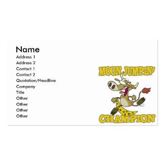 dibujo animado divertido de salto de la vaca del c plantilla de tarjeta de negocio