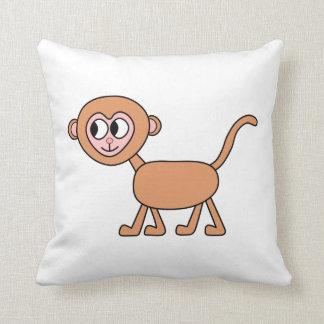 Dibujo animado divertido de un mono cojín