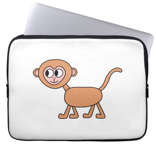 Dibujo animado divertido de un mono fundas portátiles