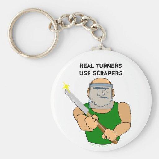 Dibujo animado divertido de UseScrapers Llavero Redondo Tipo Pin