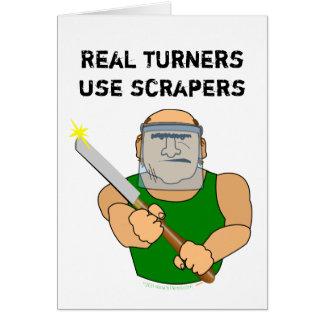Dibujo animado divertido de UseScrapers Tarjeta De Felicitación