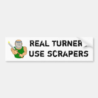 Dibujo animado divertido de UseScrapers Woodturnin Pegatina Para Auto