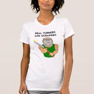 Dibujo animado divertido de UseScrapers Woodturnin Camiseta