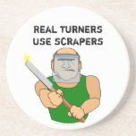 Dibujo animado divertido de UseScrapers Woodturnin Posavasos Para Bebidas