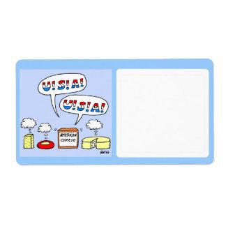 Dibujo animado divertido del almacenamiento de la etiquetas de envío