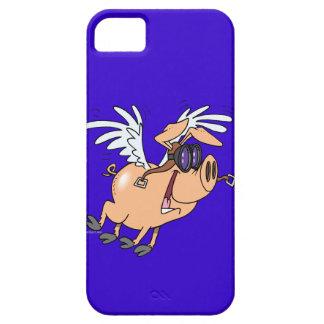 dibujo animado divertido del aviador del cerdo del iPhone 5 fundas