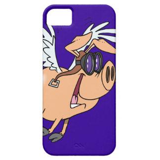 dibujo animado divertido del aviador del cerdo del iPhone 5 carcasas