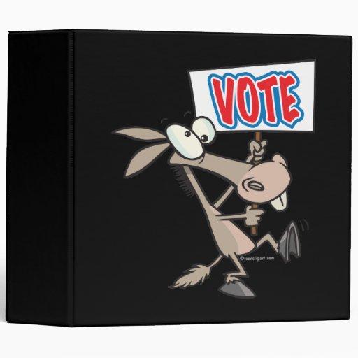 dibujo animado divertido del burro del demócrata d