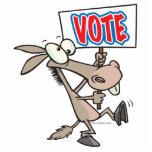 dibujo animado divertido del burro del demócrata d esculturas fotograficas