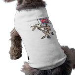 dibujo animado divertido del burro del demócrata d camisa de perrito