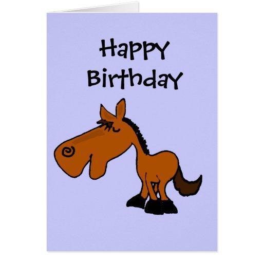 Dibujo animado divertido del caballo CV Tarjeta