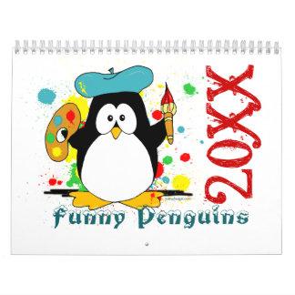 Dibujo animado divertido del calendario de los