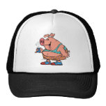 dibujo animado divertido del cerdo del cerdo del j gorros bordados