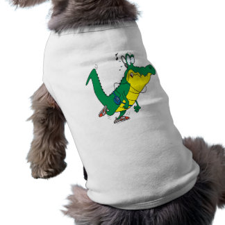 dibujo animado divertido del cocodrilo del cocodri playera sin mangas para perro