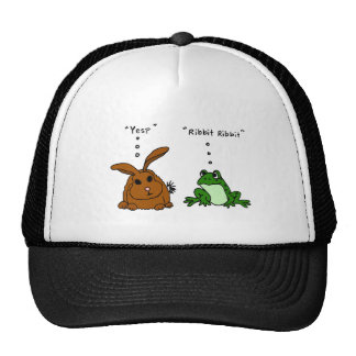 Dibujo animado divertido del conejo YY y de la ran Gorro De Camionero