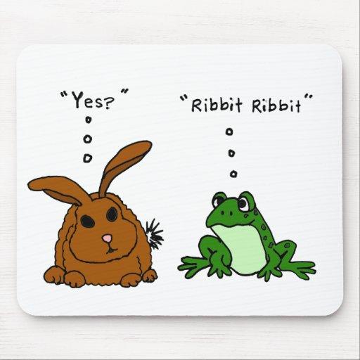 Dibujo animado divertido del conejo YY y de la ran Mouse Pads