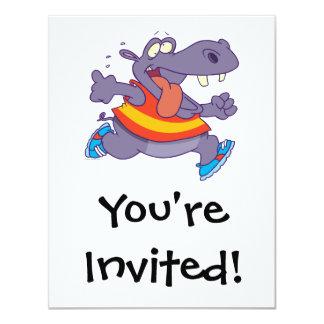 dibujo animado divertido del corredor del invitación 10,8 x 13,9 cm