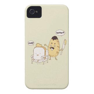 Dibujo animado divertido del corte de pelo de pan iPhone 4 funda