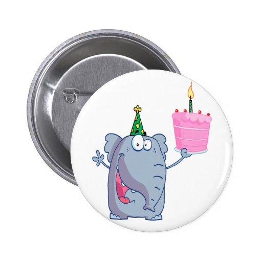 dibujo animado divertido del elefante del feliz cu pins