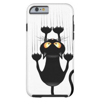 Dibujo animado divertido del gato negro que funda de iPhone 6 tough