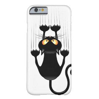 Dibujo animado divertido del gato negro que funda de iPhone 6 barely there