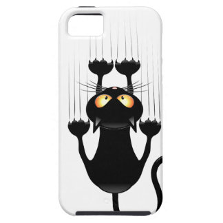Dibujo animado divertido del gato negro que rasguñ iPhone 5 carcasa