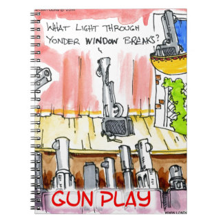 Dibujo animado divertido del GunPlay Libro De Apuntes