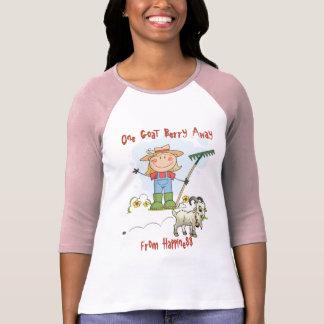 Dibujo animado divertido del impulso de la cabra camiseta