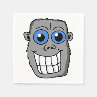 Dibujo animado divertido del mono servilletas de papel