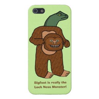 Dibujo animado divertido del monstruo de Bigfoot iPhone 5 Fundas