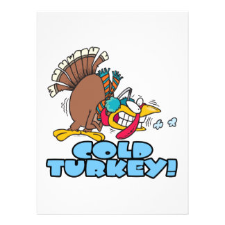 dibujo animado divertido del pavo frío invitación personalizada