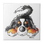 Dibujo animado divertido del perro de montaña de tejas  cerámicas