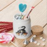 Dibujo animado divertido del perro de montaña de jarra para caramelo